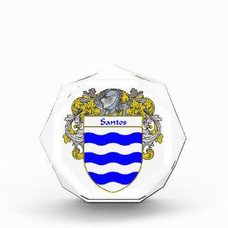 Santos Coat of Arms Family Crest Acrylic Award