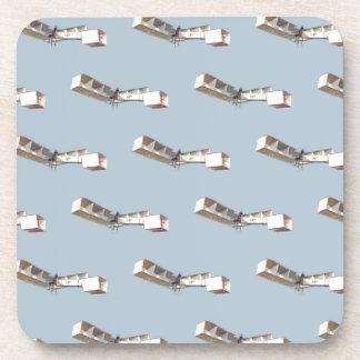Santos-Dumont 14-Bis Airplane Beverage Coaster