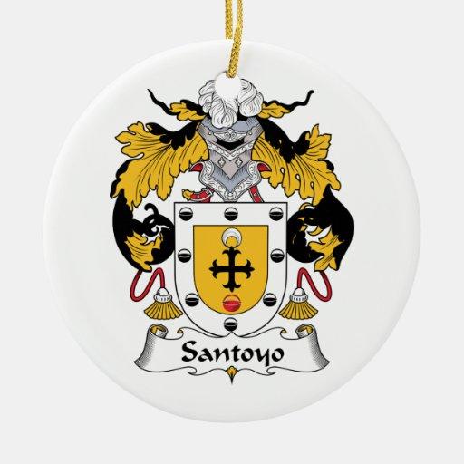 Santos Family Crest Ornaments