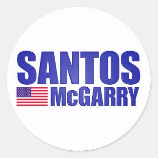 Santos McGarry Classic Round Sticker