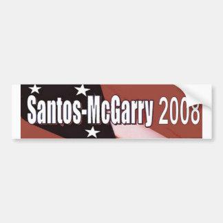 Santos McGarry en 2008 Etiqueta De Parachoque
