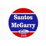 Santos McGarry in 2008 Postcard