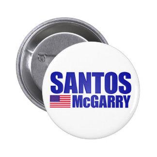 Santos McGarry Pin Redondo De 2 Pulgadas
