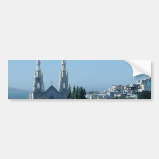 Santos Peter e iglesia de Paul Pegatina Para Auto