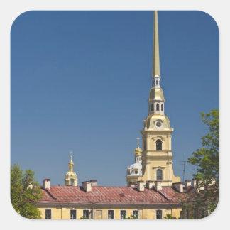 Santos Peter y catedral de Paul Pegatina Cuadrada