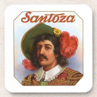 Santoza Cigar Label Beverage Coasters