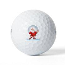 Santronaut Santa Christmas Astronaut Choose Kind Golf Balls