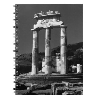 Santuario 1970 del templo de Grecia Atenas Tholos Libro De Apuntes Con Espiral