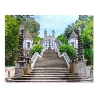 Santuario de Bom Jesús, Braga, Portugal Tarjeta Postal