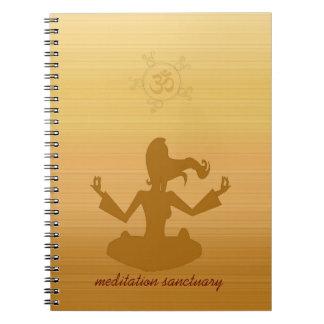 santuario de la meditación libro de apuntes
