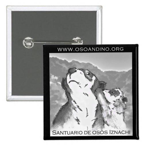 Santuario de Osos Iznachi - Broche 2 Inch Square Button