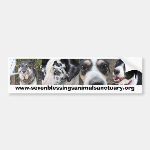 Santuario del animal de siete bendiciones pegatina para auto