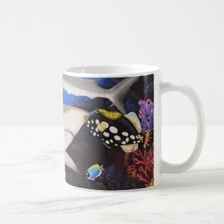 Santuario del tiburón taza de café