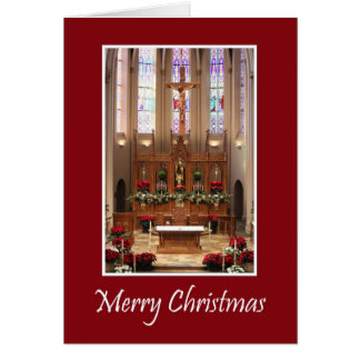 Santuario hermoso del navidad de St Mary Felicitación