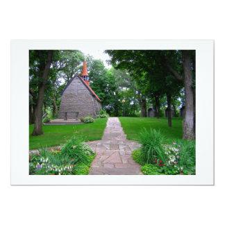 """Santuario poca foto de la capilla del saltamontes invitación 5"""" x 7"""""""