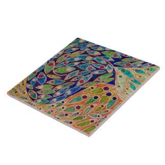 """""""Santuario rápido"""" (pintura) Azulejo Cuadrado Grande"""