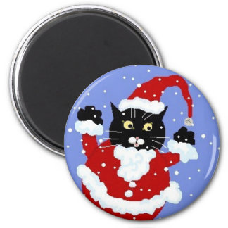 Santy Cat Magnet