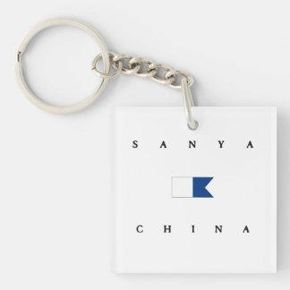 Sanya China Alpha Dive Flag Keychain