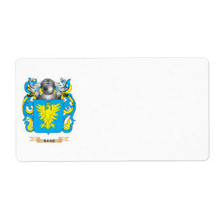 Sanz Coat of Arms (Family Crest) Shipping Labels