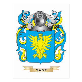 Sanz Coat of Arms (Family Crest) Post Card