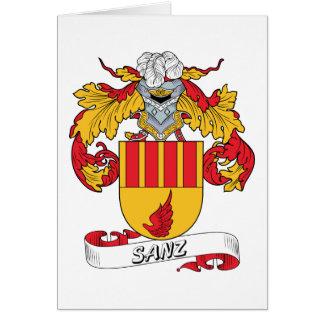 Sanz Family Crest Cards