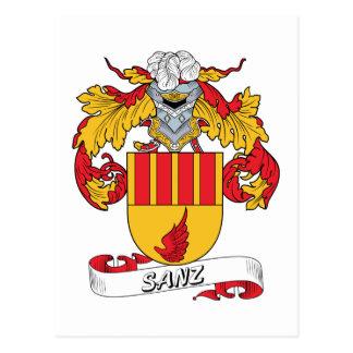 Sanz Family Crest Post Card