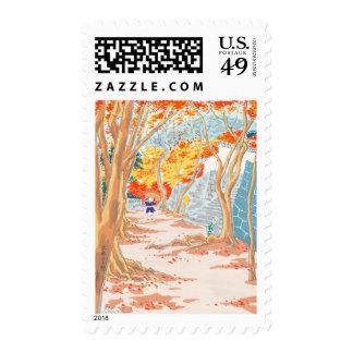 Sanzen-in Monastery Tokuriki Tomikichiro autumn Stamps