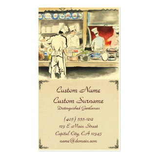 Sanzo Wada Japanese Vocations In Pictures, Cook Business Card