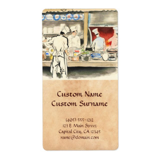 Sanzo Wada Japanese Vocations In Pictures, Cook Label