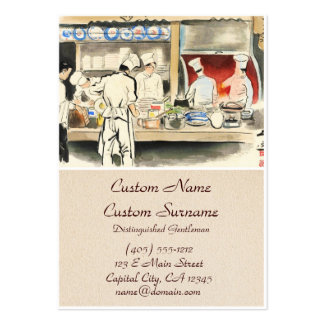Sanzo Wada Japanese Vocations In Pictures, Cook Large Business Card