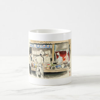 Sanzo Wada Japanese Vocations In Pictures, Cook Classic White Coffee Mug