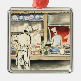 Sanzo Wada Japanese Vocations In Pictures, Cook Christmas Ornament