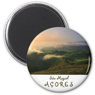 Sao Miguel, Azores 2 Inch Round Magnet