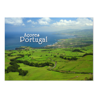 Sao Miguel green landscape Card