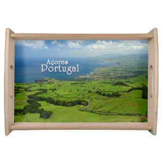 Sao Miguel green landscape Serving Tray