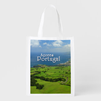 Sao Miguel green landscape Reusable Grocery Bags