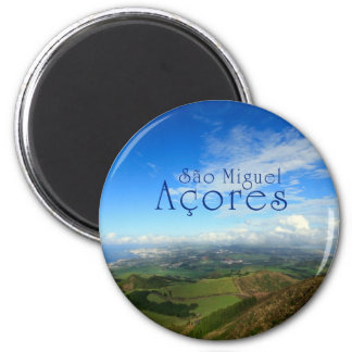 Sao Miguel island Azores 2 Inch Round Magnet