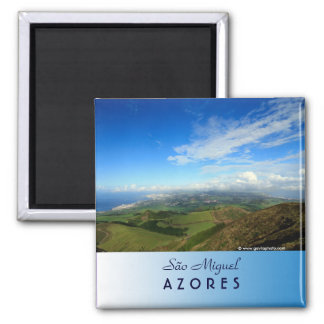 Sao Miguel island Azores 2 Inch Square Magnet