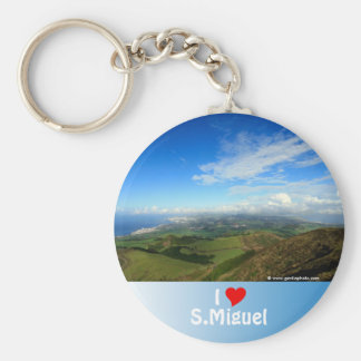 Sao Miguel island Azores Basic Round Button Keychain