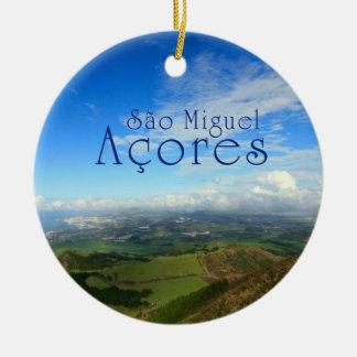 Sao Miguel island Azores Christmas Ornaments