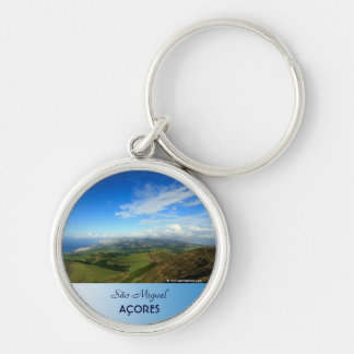 Sao Miguel island Azores Silver-Colored Round Keychain
