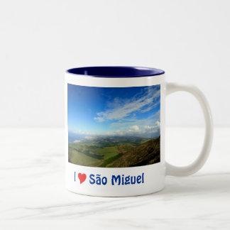 Sao Miguel island Azores Two-Tone Coffee Mug