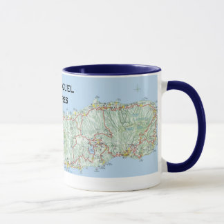 Sao Miguel* Map Coffee Mug