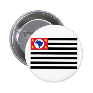 São Pablo, bandera del Brasil Pin Redondo 5 Cm