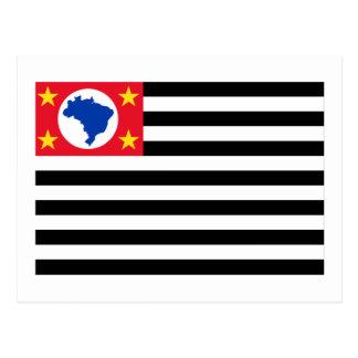 São Pablo, bandera del Brasil Tarjeta Postal