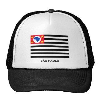 São Pablo, bandera que agita del Brasil Gorros Bordados