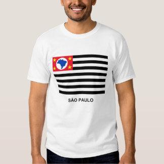 São Pablo, bandera que agita del Brasil Remera