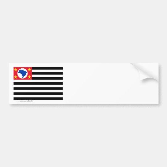 São Paulo, Brazil Flag Bumper Sticker