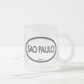 Sao Paulo, Brazil Frosted Glass Coffee Mug