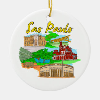 Sao Paulo - Brazil.png Christmas Tree Ornament
